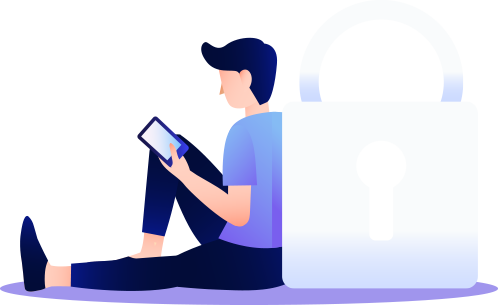 man image with lock